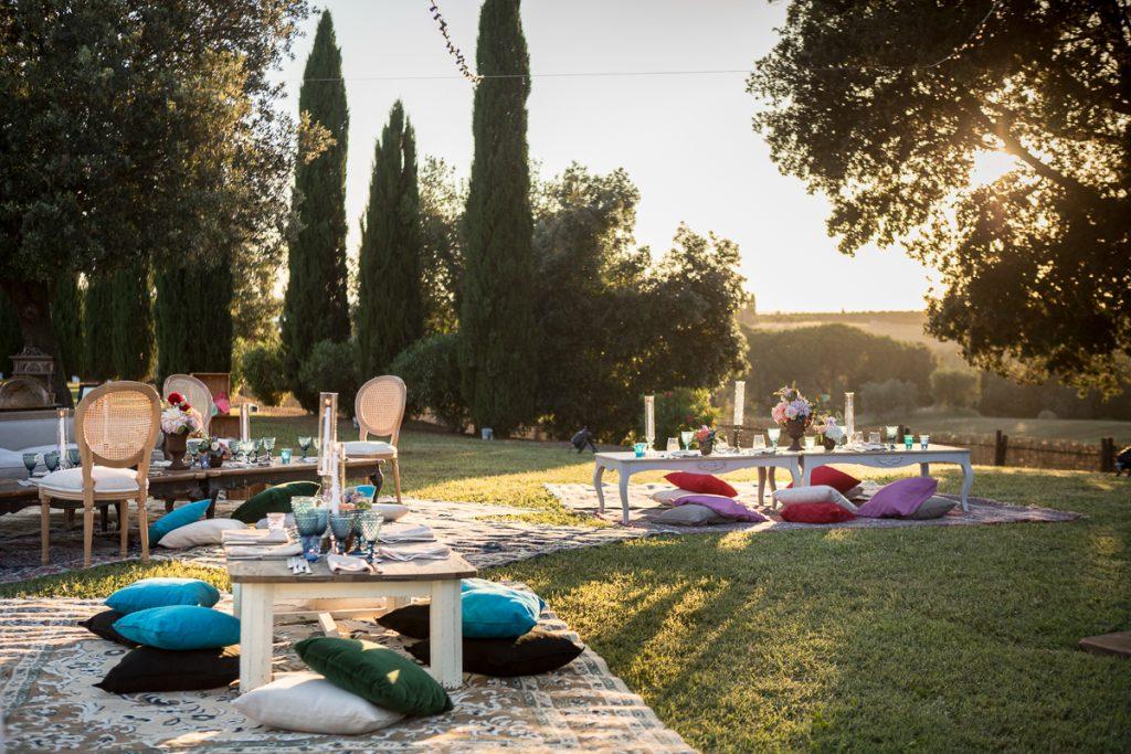 Lounge unconventional wedding Tuscany