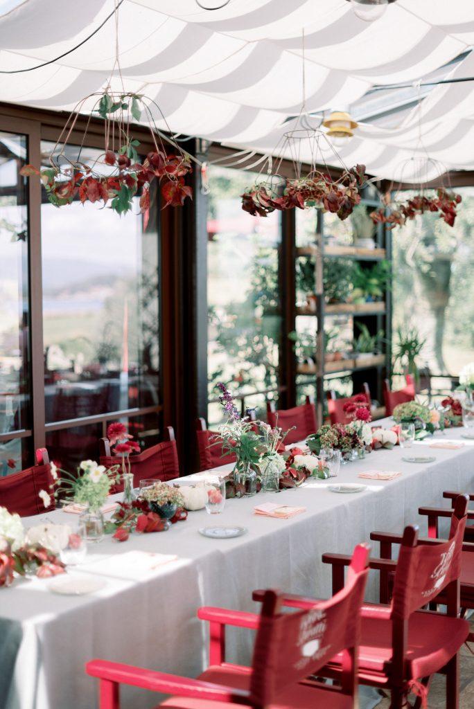 Una festa tra zucche e fiori autunnali
